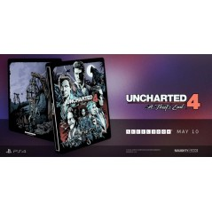 UNCHARTED 4 STEELBOOK PS4 EURO FR OCCASION