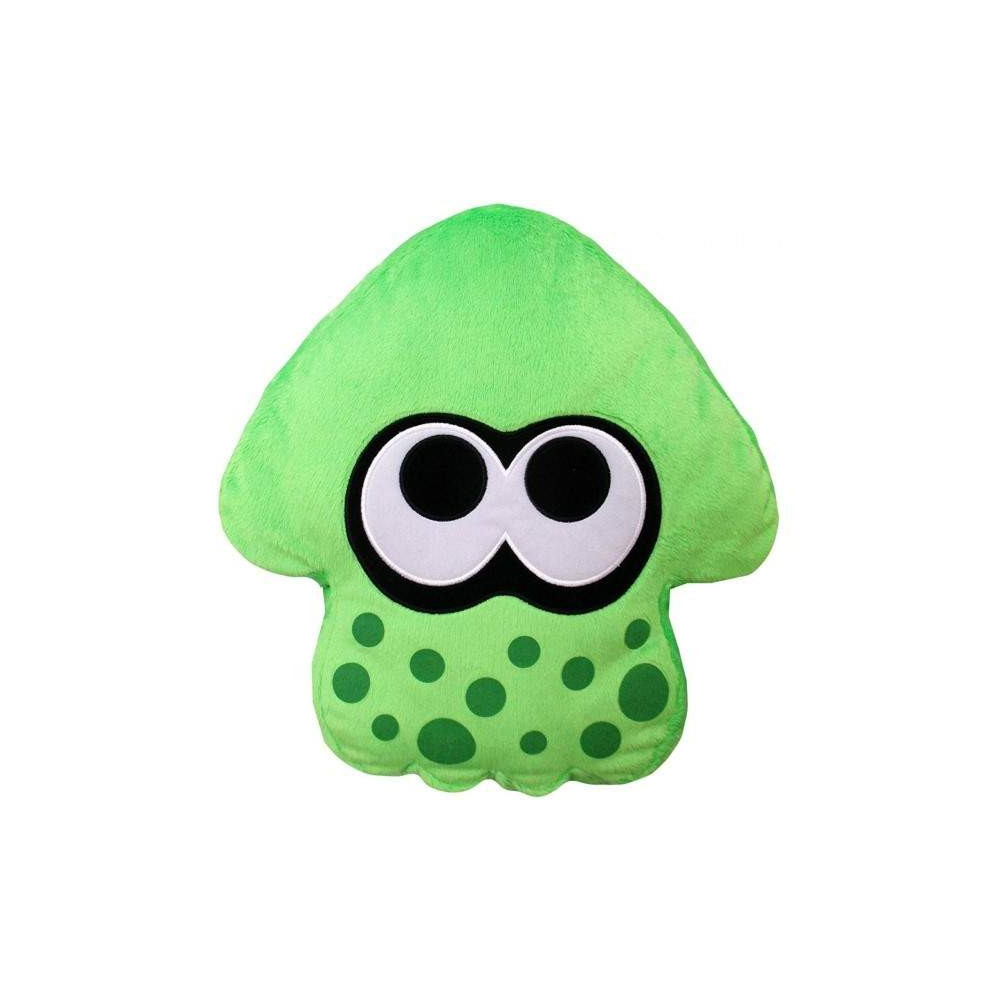 SPLATOON 2 PLUSH NEON GREEN SQUID CUSHION JAP NEW