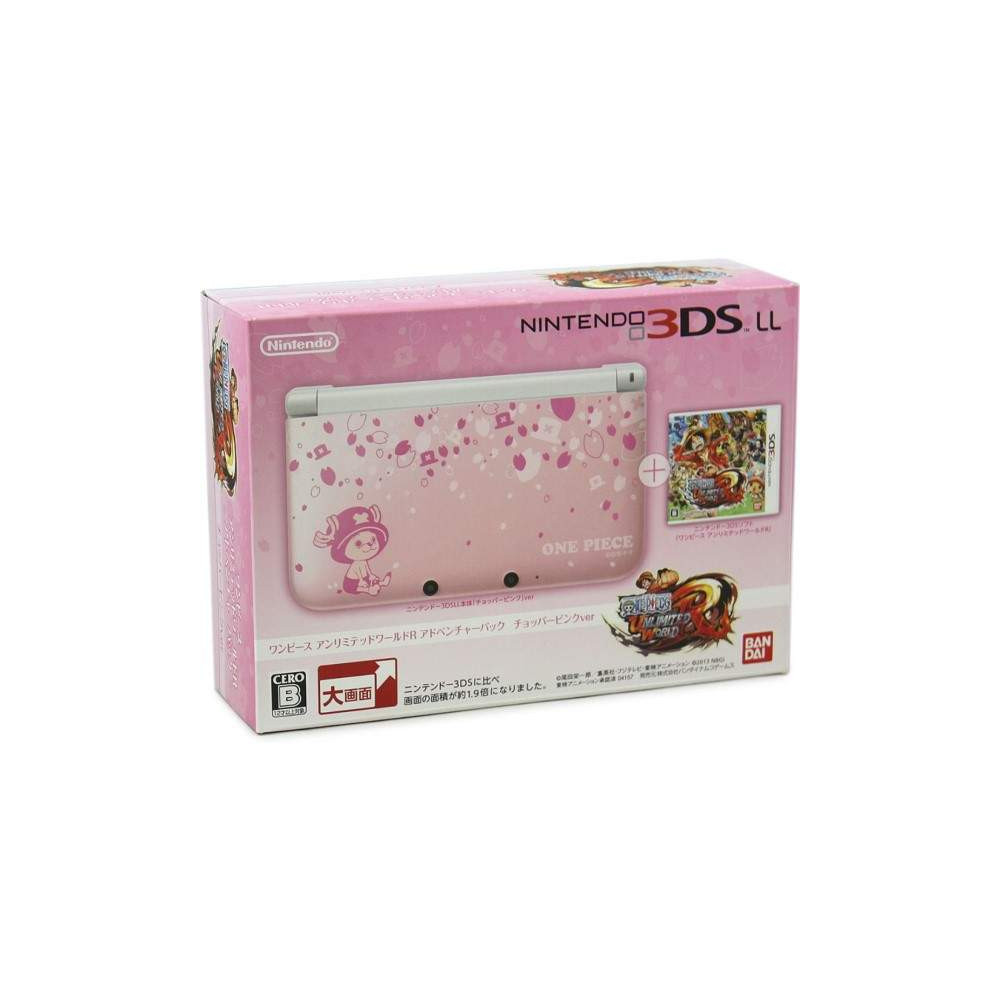 CONSOLE 3DS LL ONE PIECE UNLIMITED WORLD R LIMITED PACK CHOPPER JPN OCCASION