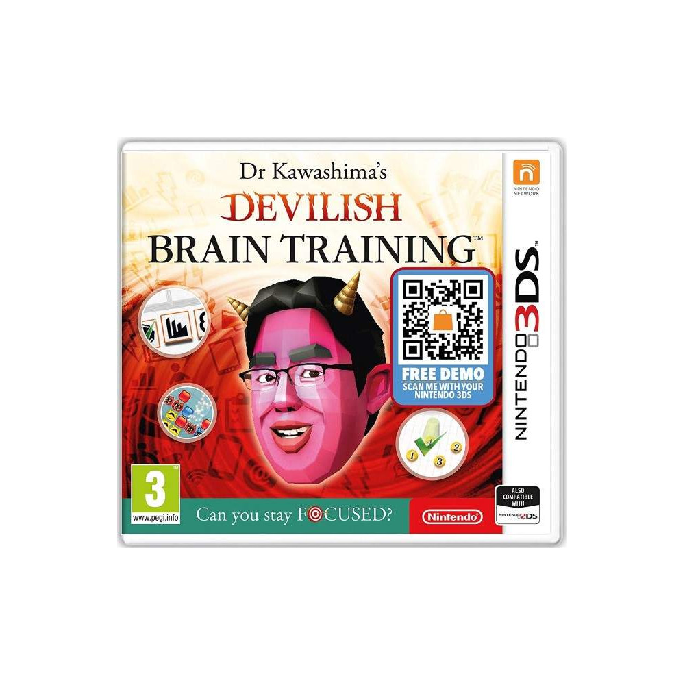 DR KAWASHIMA S DEVILISH BRAIN TRAINING 3DS NEW