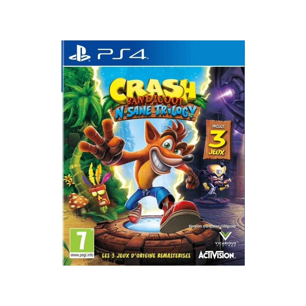 CRASH BANDICOOT N SANE TRILOGY PS4 UK OCCASION