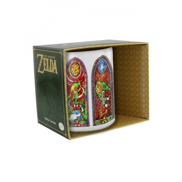 MUG THE LEGEND OF ZELDA STAINED GLASS EURO NEW