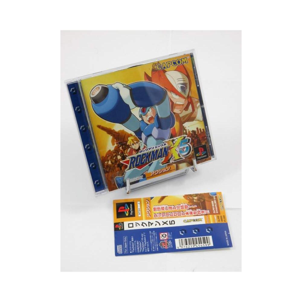 ROCKMAN X5 (AVEC SPIN) PS1 NTSC-JPN OCCASION