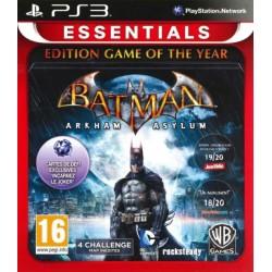 BATMAN ARKHAM ASYLUM EDITION GAME OF THE YEAR ESSENTIALS PS3 FR OCCASION