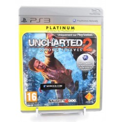 UNCHARTED 2 AMONG THIEVES PLATINUM PS3 FR OCCASION
