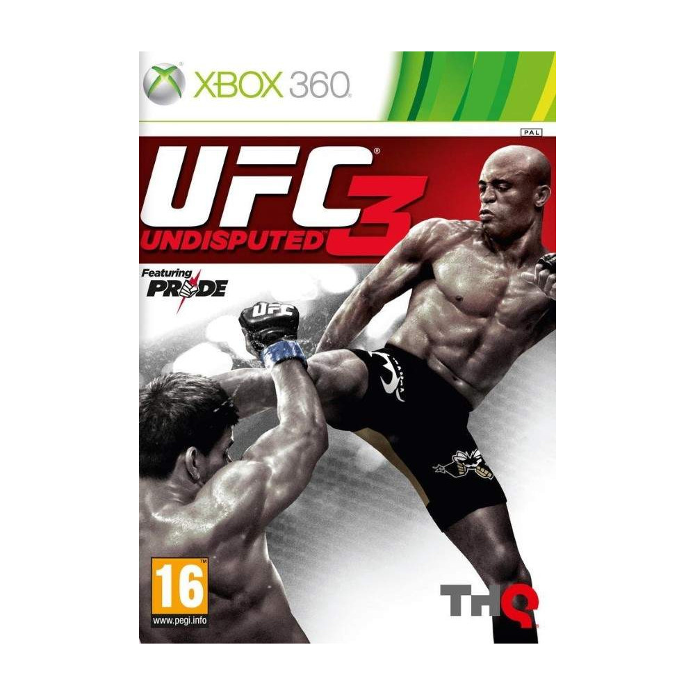 UFC 3 UNDISPUTED XBOX 360 PAL-FR OCCASION