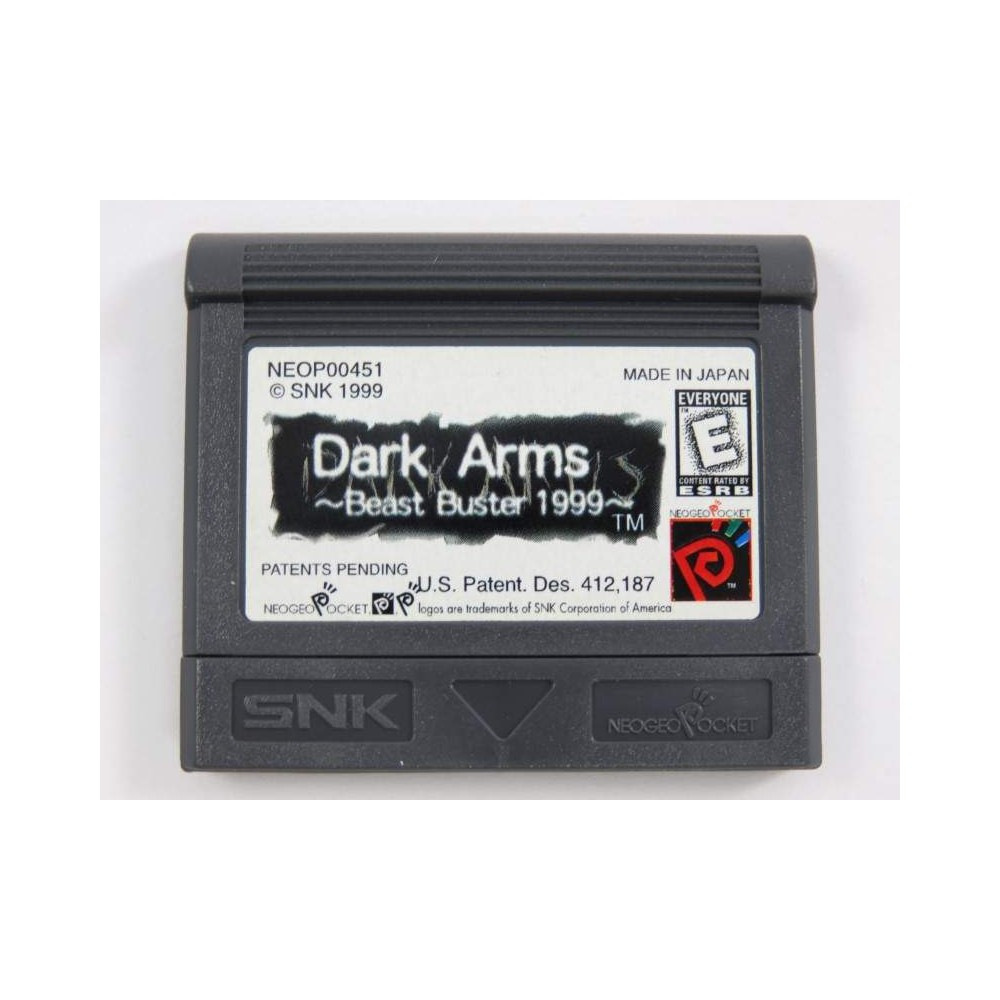 DARK ARMS : BEAST BUSTER 1999 NEO GEO POCKET USA LOOSE
