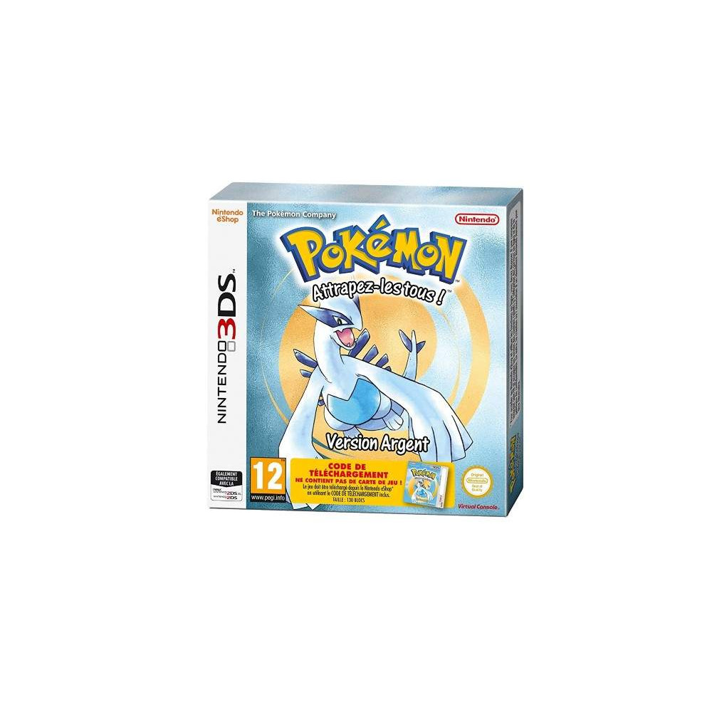 POKEMON VERSION ARGENT CODE DE TELECHARGEMENT 3DS PAL-FR NEW