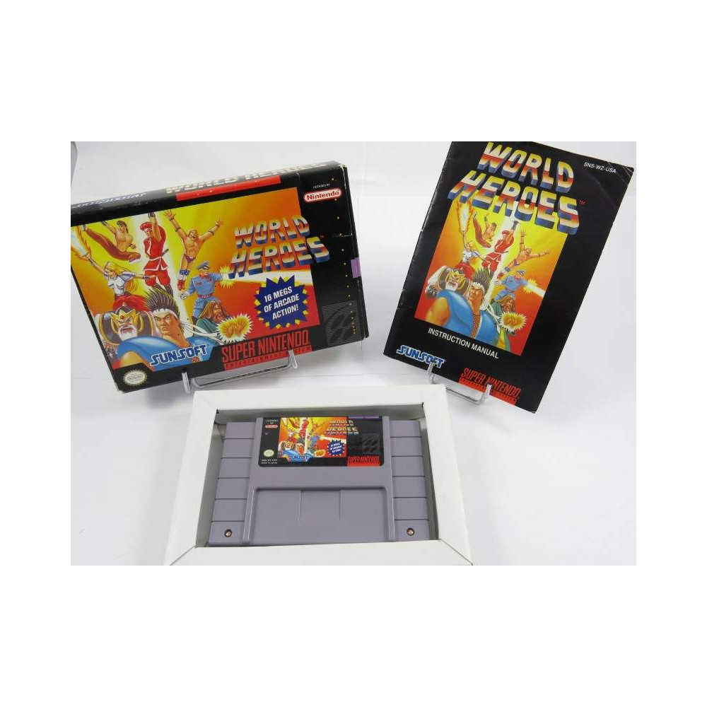 WORLD HEROES SNES NTSC-USA OCCASION