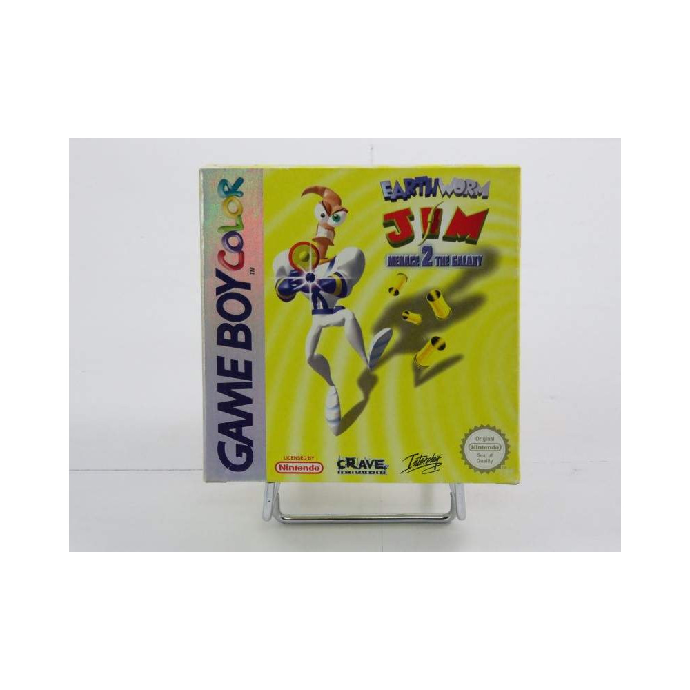 EARTHWORM JIM MENACE 2 THE GALAXY GAMEBOY COLOR EURO OCCASION