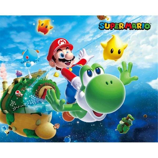 CADRE 3D LENTICULAIRE MARIO GALAXY EURO NEW