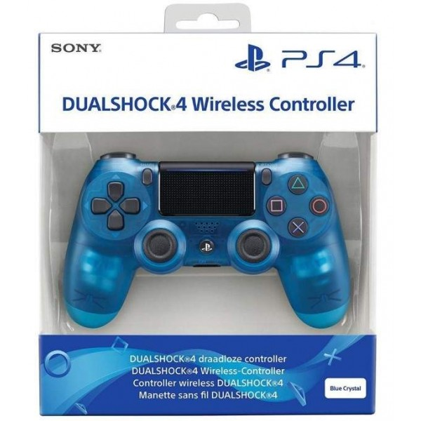 CONTROLLER DUAL SHOCK 4 CRYSTAL BLEU V2 PS4 EURO NEW