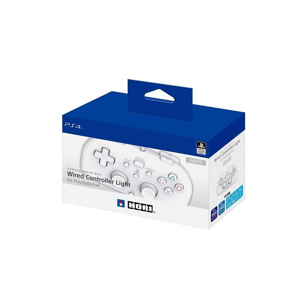 CONTROLLER HORI WIRED WHITE PS4 JAP NEW