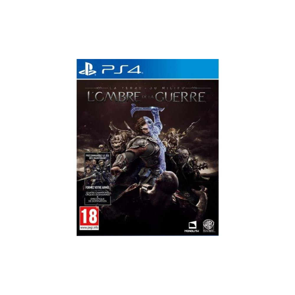 SHADOW OF WAR MIDDLE EARTH PS4 UK OCCASION