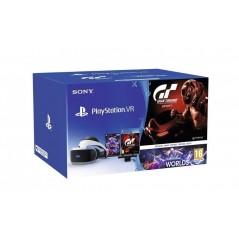 CASQUE PLAYSTATION VR + CAMERA V2 + PLAYSTATION VR WORLD + GT SPORT PS4 FR NEW