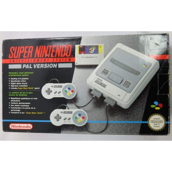 CONSOLE SUPER NINTENDO PACK SUPER MARIO WORLD (2 MANETTES) PAL FAH OCCASION