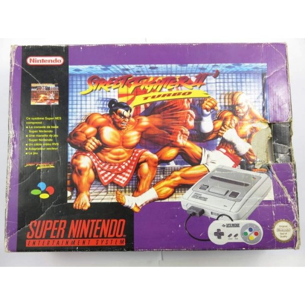 CONSOLE SUPER NINTENDO PACK STREET FIGHTER II TURBO PAL FAH OCCASION