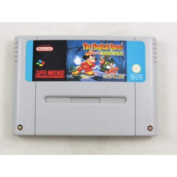 THE MAGICAL QUEST STARRING MICKEY MOUSE SUPER NINTENDO (SNES) PAL-FAH (CARTRIDGE ONLY - GOOD CONDITION)