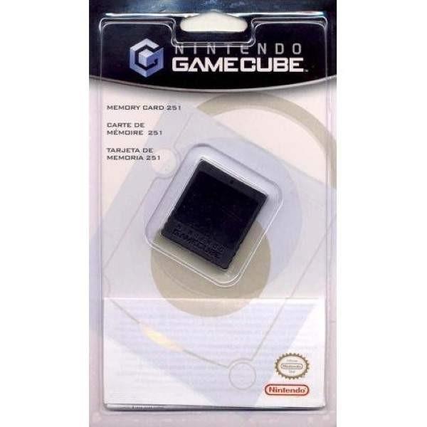 CARTE MEMOIRE - MEMORY CARD 251 BLOCS GAMECUBE OFFICIEL NEW