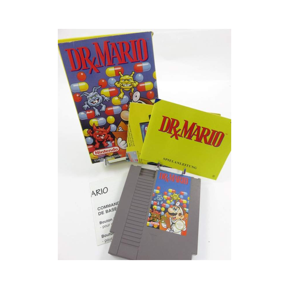 DR MARIO NES PAL-B NOE OCCASION (IMPORT FR - CARTOUCHE FRA - NOTICE SUP. FR)
