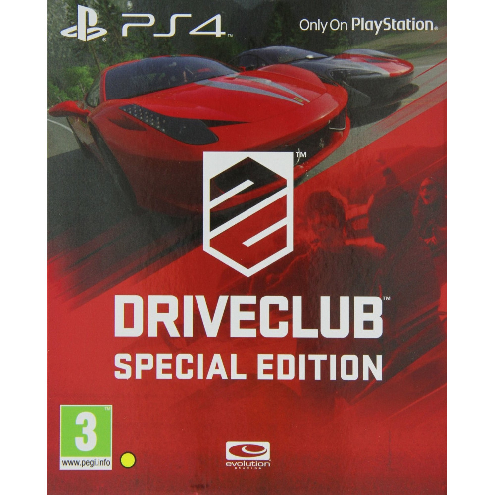 DRIVE CLUB SPECIAL EDITION PS4 UK