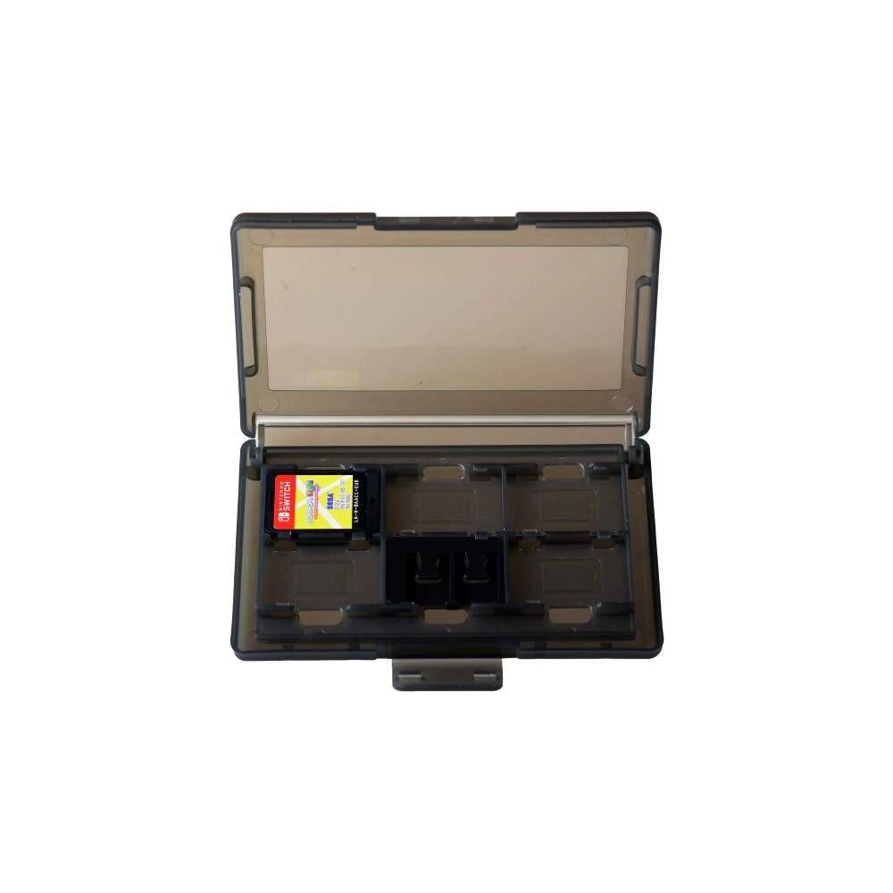 achat boite de rangement pour 12 jeux nintendo switch noir new accessoire 73065 trader games. Black Bedroom Furniture Sets. Home Design Ideas