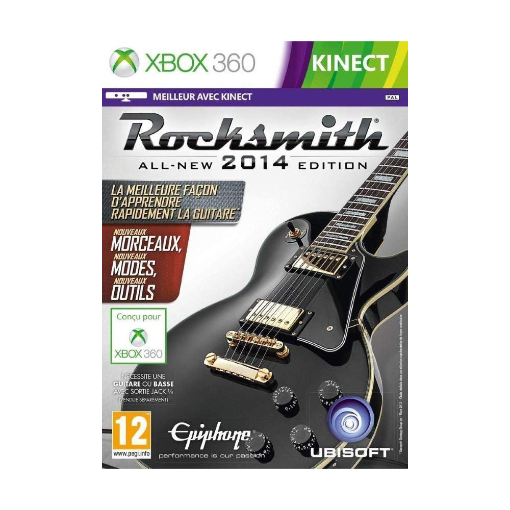 ROCKSMITH 2014 (BOX + CABLE) XBOX 360 PAL-FR OCCASION