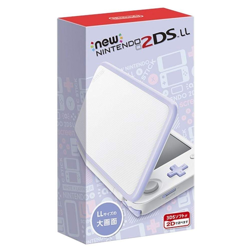CONSOLE NEW NINTENDO 2DS LL WHITE X LAVENDER JPN NEW