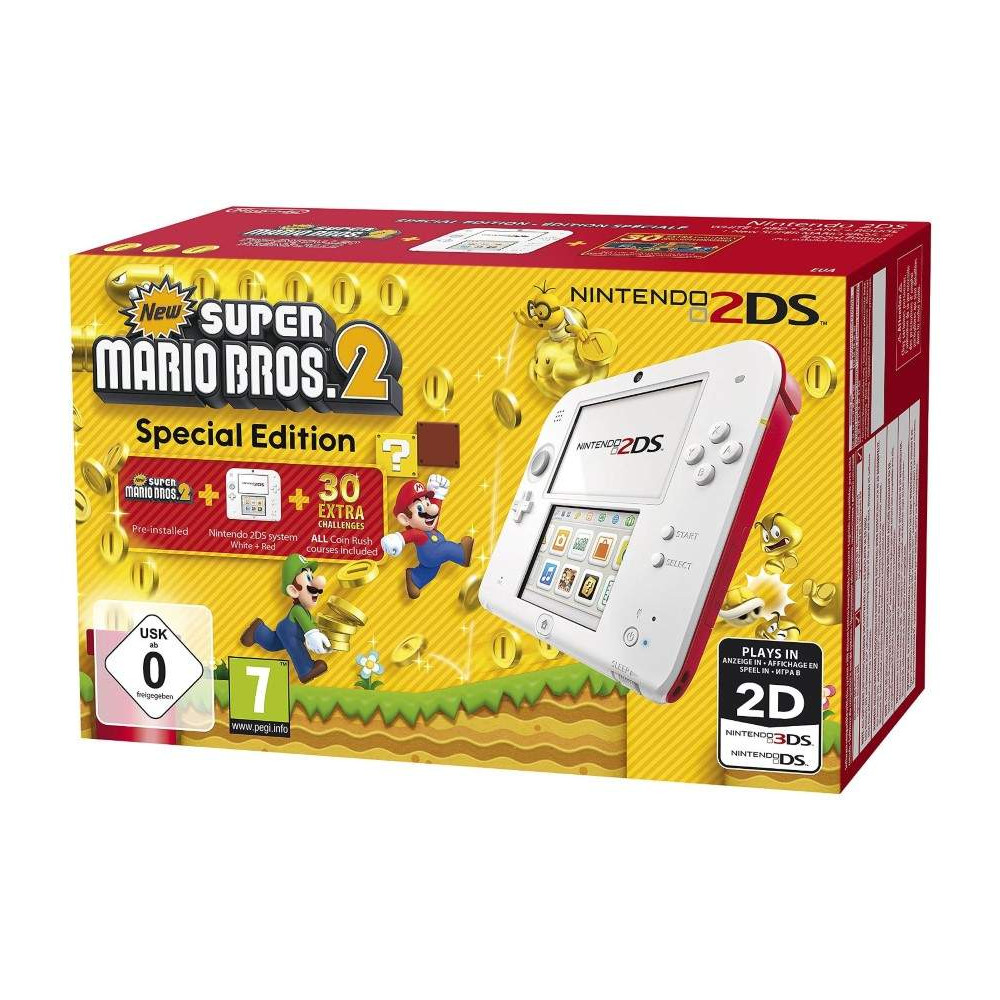 CONSOLE 2DS BLANC ET ROUGE NEW SUPER MARIO BROS 2 FRANCAIS NEW