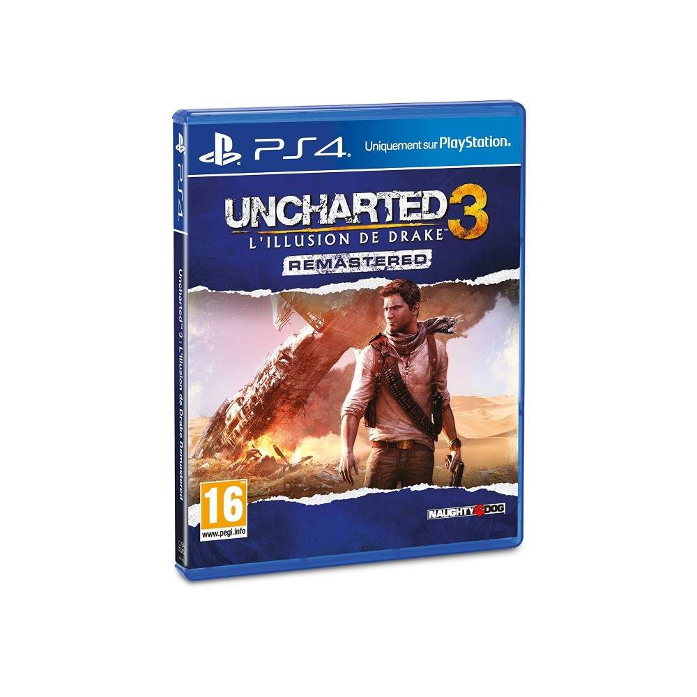 UNCHARTED 3 L ILLUSION DE DRAKE REMASTERED PS4 FRANCAIS OCCASION