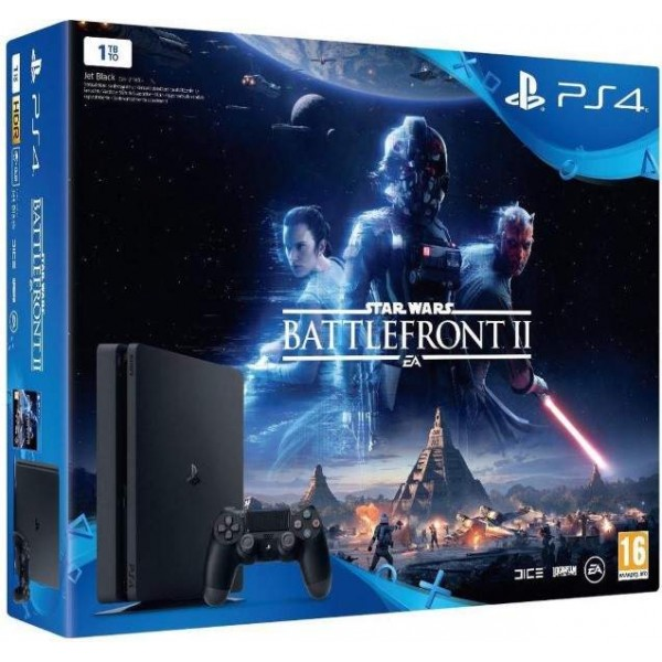 CONSOLE PS4 SLIM 1 TO + STAR WARS BATTLEFRONT 2 FR NEWv