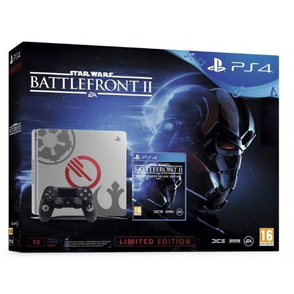 CONSOLE PS4 SLIM 1 TO + STAR WARS BATTLEFRONT 2 ELITE TROOPER DELUXE EDITION LIMITED EDITION FR NEW