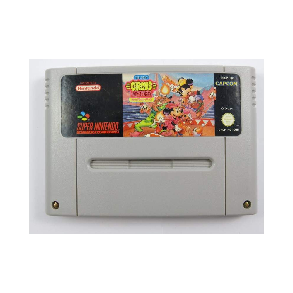 THE GREAT CIRCUS MYSTERY STARRING MICKEY & MINNIE SNES PAL-EUR LOOSE