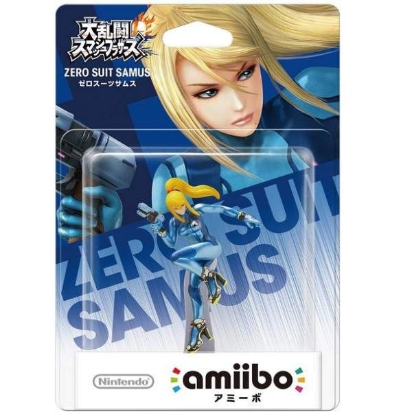 AMIIBO SUPER SMASH BROS ZERO SUIT SAMUS JAP NEW