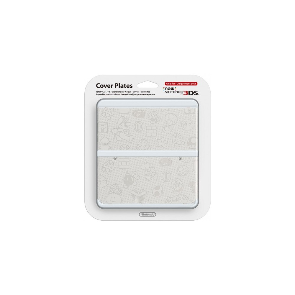 COVERPLATE N 12 SUPER MARIO BROS. BLANCHE NEW 3DS