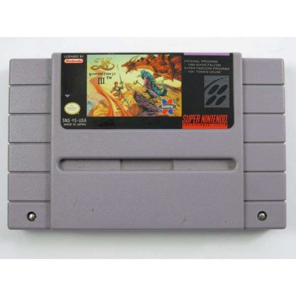 WANDERERS FROM YS III SNES NTSC-USA LOOSE