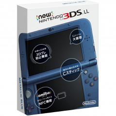 CONSOLE NEW 3DS LL BLEUE METALLIQUE JPN