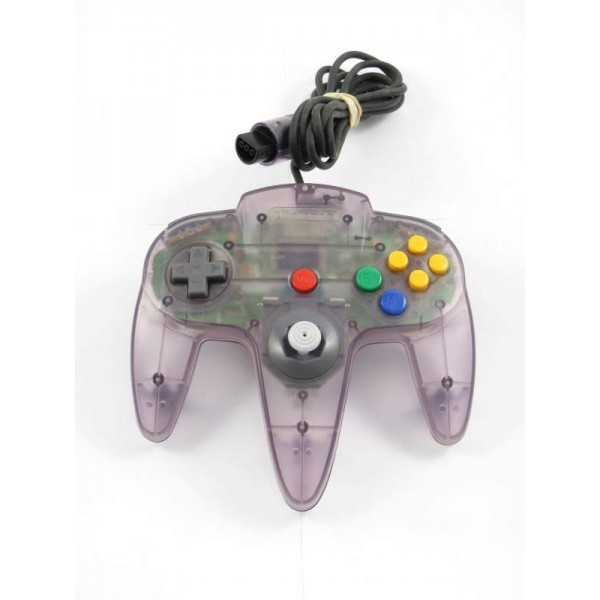 CONTROLLER NINTENDO 64 CLEAR PURPLE OCCASION