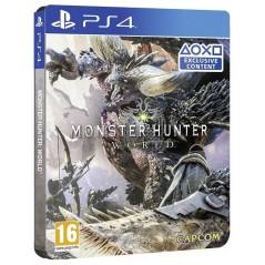 MONSTER HUNTER WORLD STEELBOOK PS4 UK NEW
