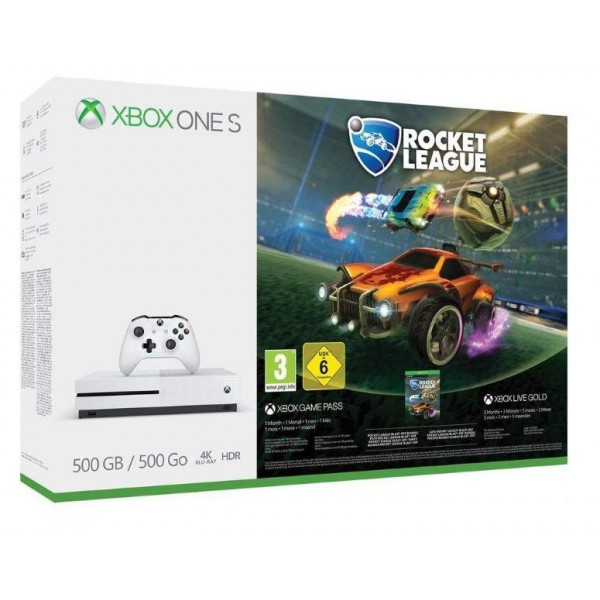 CONSOLE XBOX ONE SLIM 500 GB + ROCKET LEAGUE EURO FR NEW