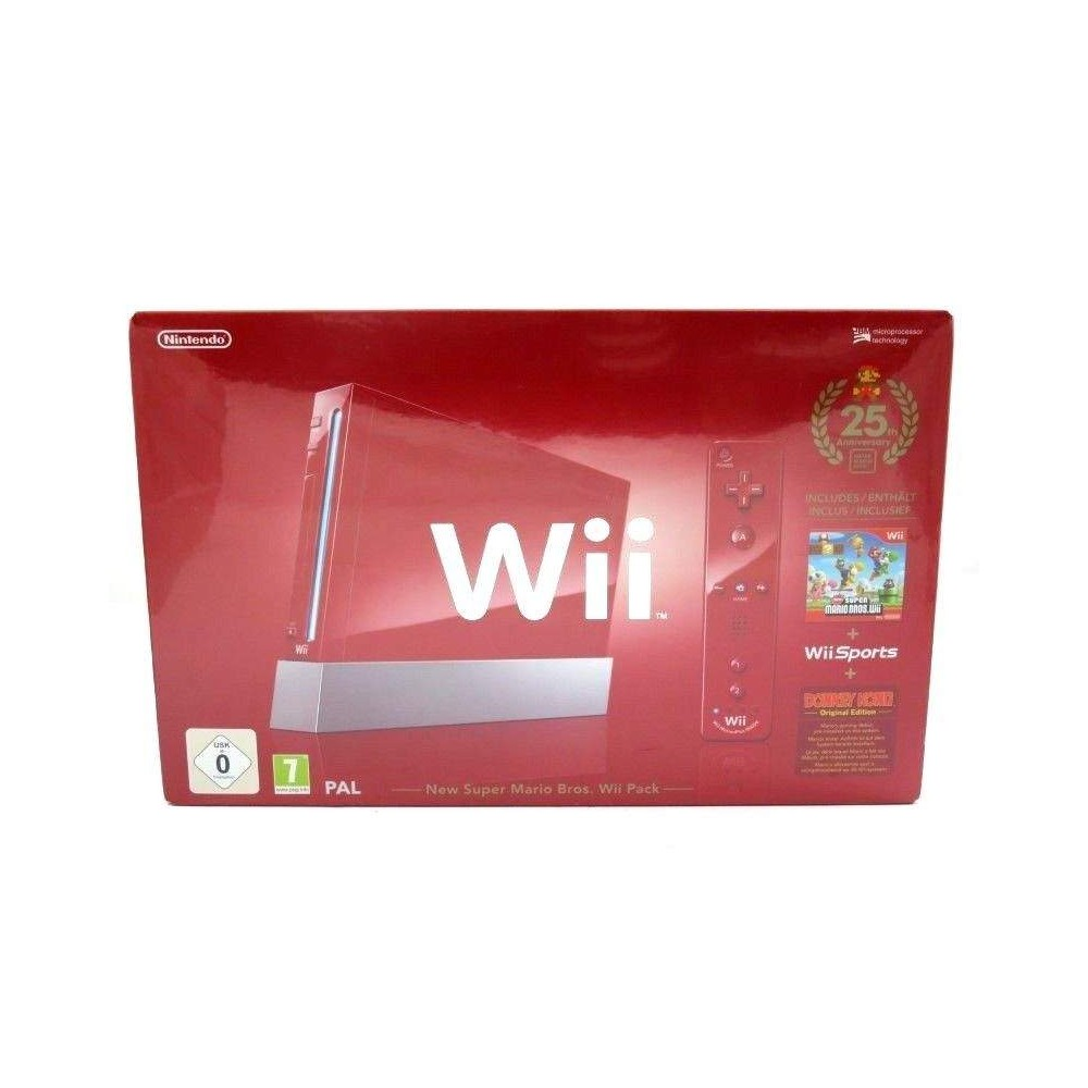 Console Nintendo WII red 25th anniversary super mario bros PAL europe NEW NEUF !