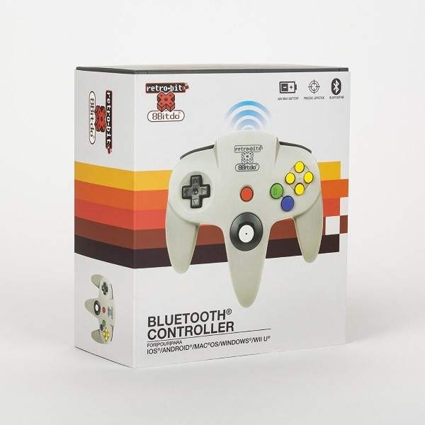 CONTROLLER N64 BLUETOOTH RETRO-BIT X 8BITO EURO NEW