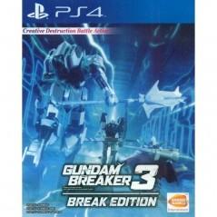 GUNDAM BREAKER 3 BREAK EDITION PS4 ASIAN AVEC TEXTE EN ANGLAIS OCCASION
