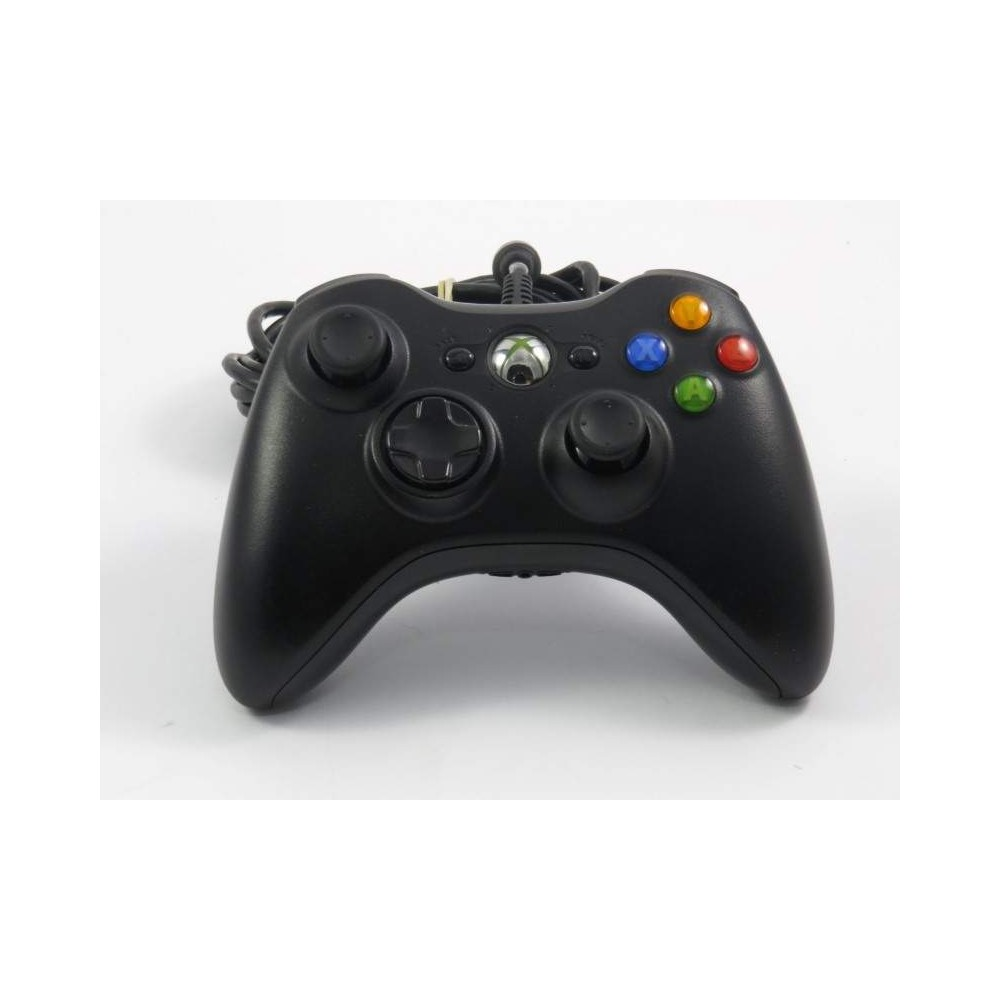 CONTROLLER XBOX 360 FILAIRE MICROSOFT NOIR OCCASION
