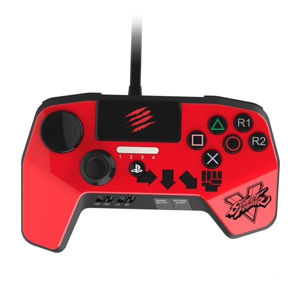 CONTROLLER FIGHTPAD PRO STREET FIGHTER 5 ROUGE MADCATZ PS4 VF OCC