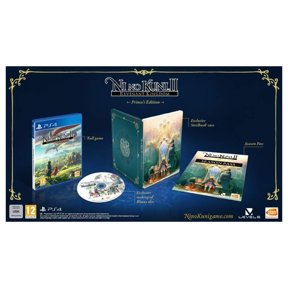 NI NO KUNI 2 REVENANT KINGDOM PRINCE'S EDITION PS4 UK NEW