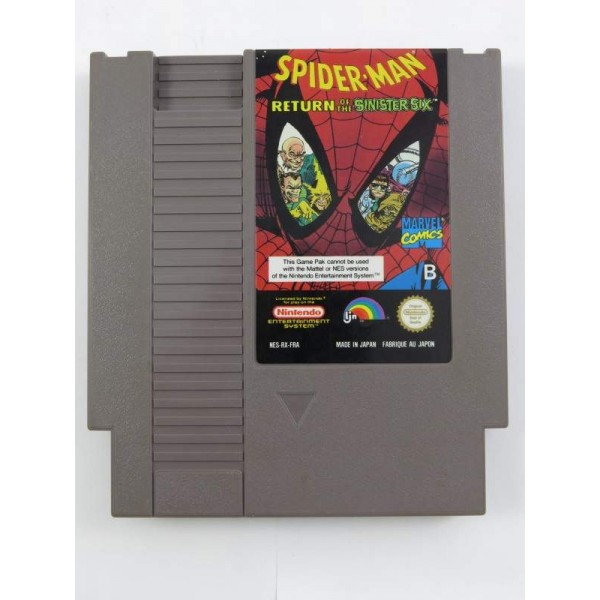 SPIDER-MAN RETURN OF THE SINISTER SIX NES PAL-B FRA LOOSE