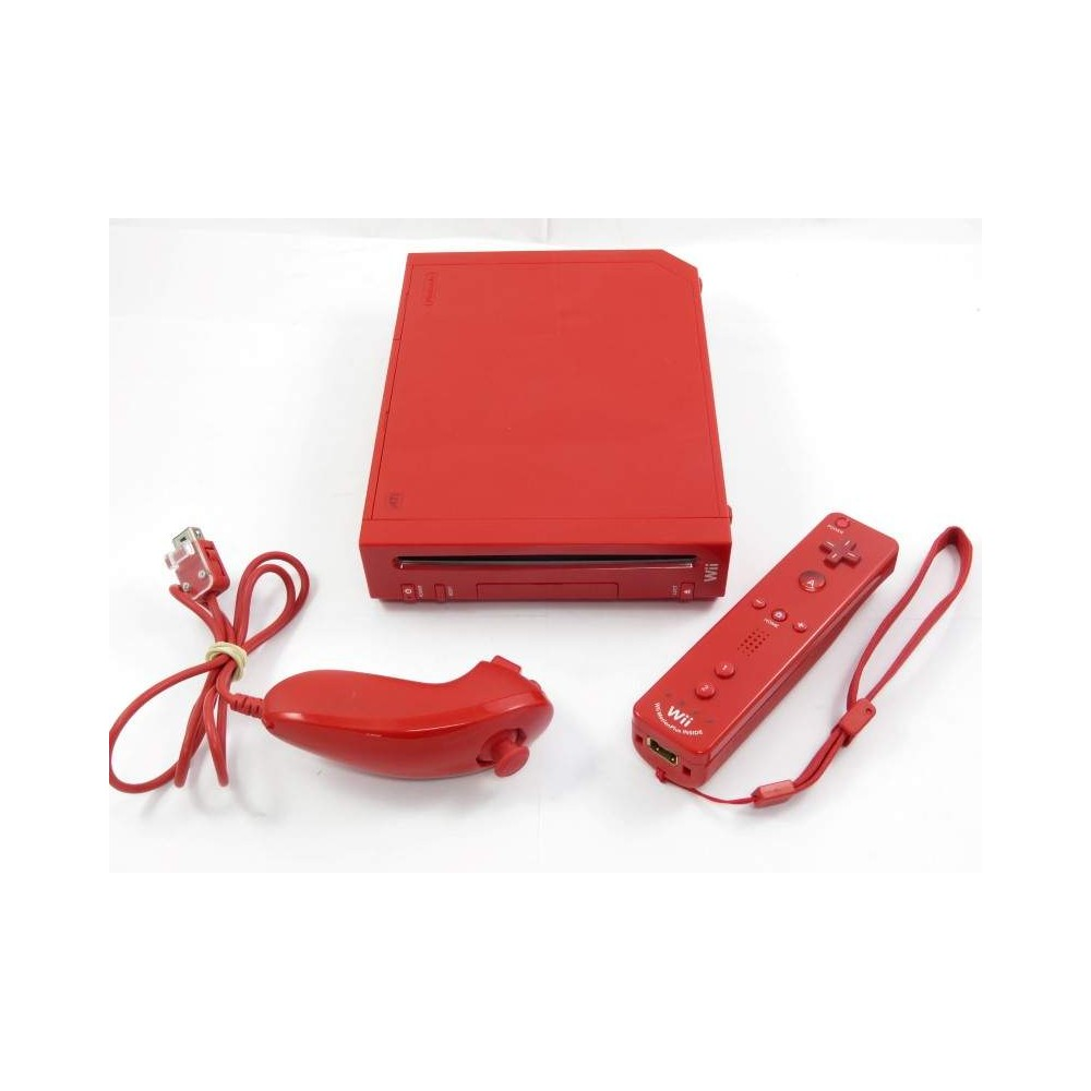 CONSOLE WII ROUGE PAL-EURO OCCASION
