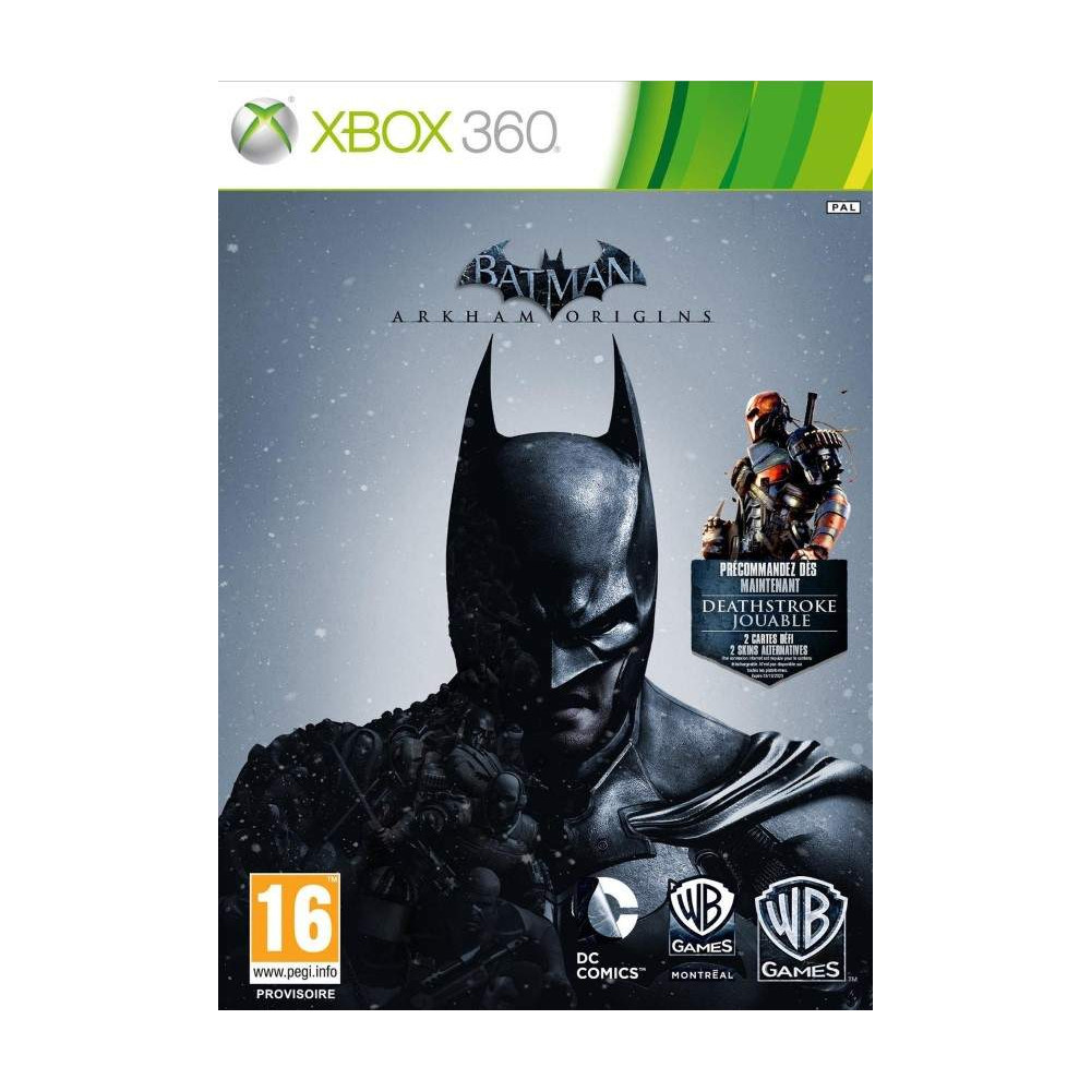 BATMAN ARKHAM ORIGINS XBOX 360 PAL-FR OCCASION