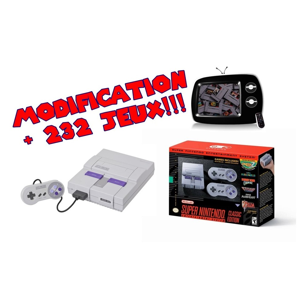 CONSOLE SUPER NES MINI CLASSIC EDITION US NEW MODIFIEE